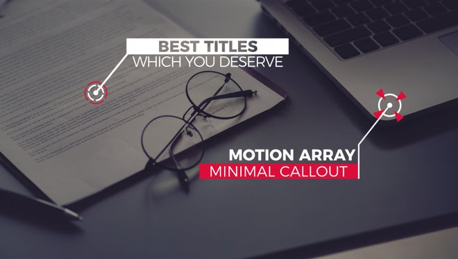 Ultra Minimal Callout Titles 4K: After Effects Templates