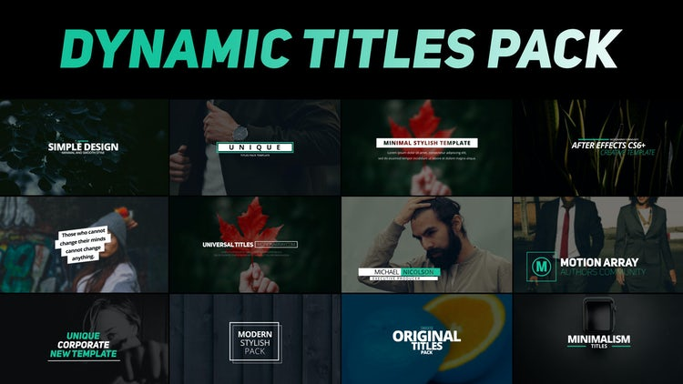 Dynamic Titles Pack: After Effects Templates