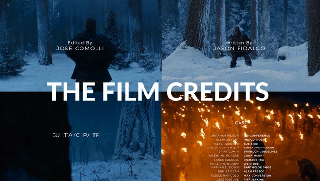 how to add credits in after effects