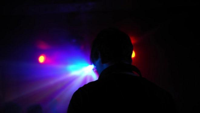 DJ Dancing In A Nightclub : Stock Video