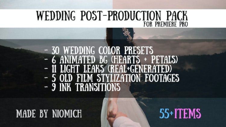 Wedding Post-Production Pack: Premiere Pro Presets
