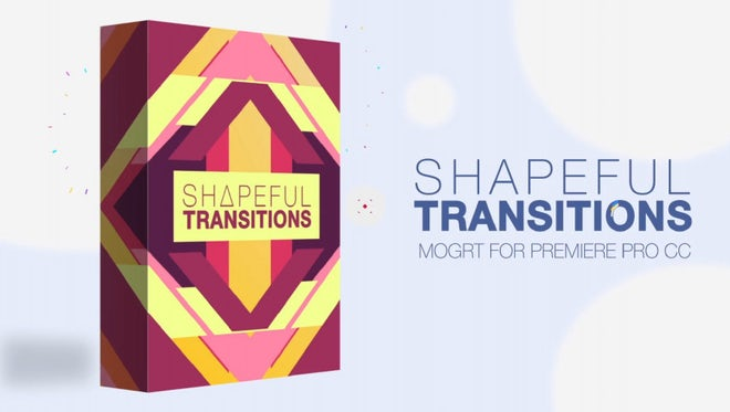 Shapeful Transitions: Motion Graphics Templates