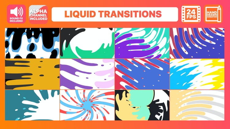 Liquid Transitions Pack: After Effects Templates