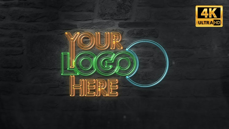 Realistic Neon Logo Reveal 4K: After Effects Templates