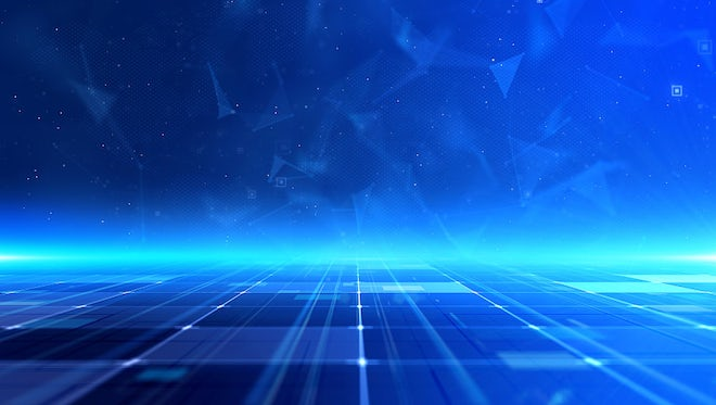 Blue Tech Plexue Line Background: Stock Motion Graphics