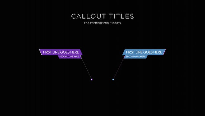 Callout Titles: Motion Graphics Templates