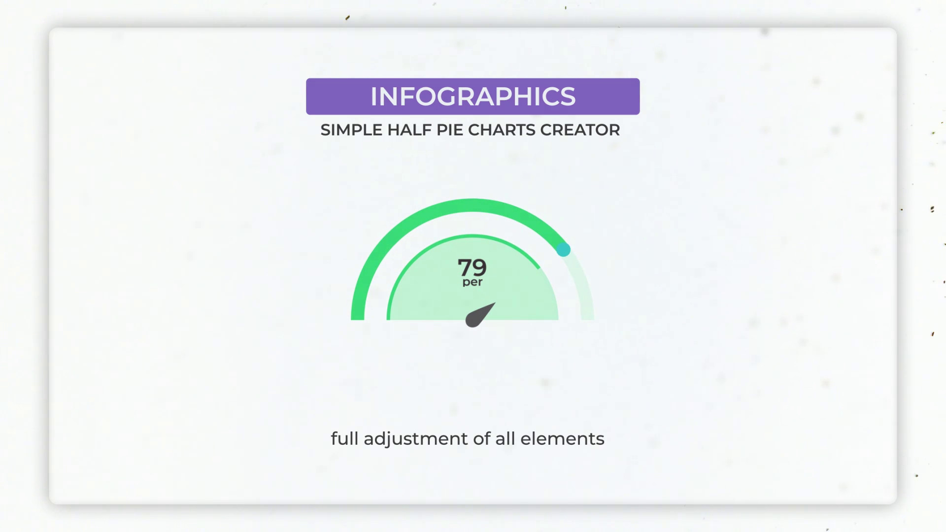 Infographics: Half Simple Pie Charts Creator - After Effects