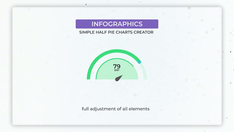 Infographics: Half Simple Pie Charts Creator: After Effects Templates