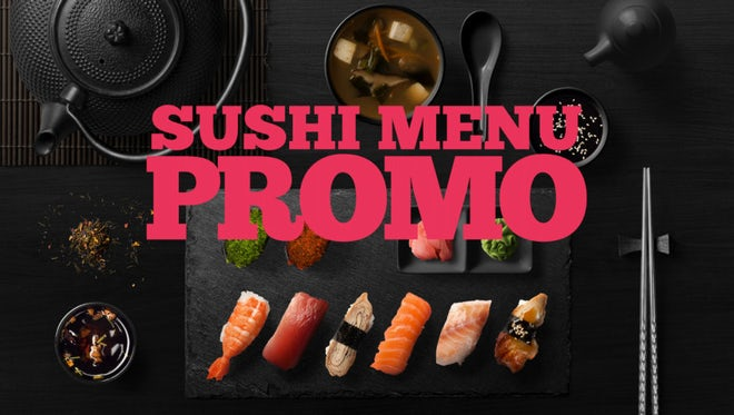 Sushi Promo: After Effects Templates