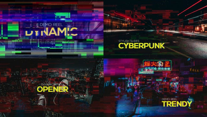 Cyberpunk Opener: After Effects Templates