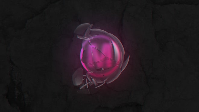 Logo In A Broken Sphere: After Effects Templates