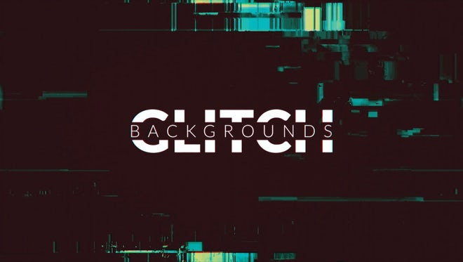 4 Glitch Backgrounds: Stock Motion Graphics