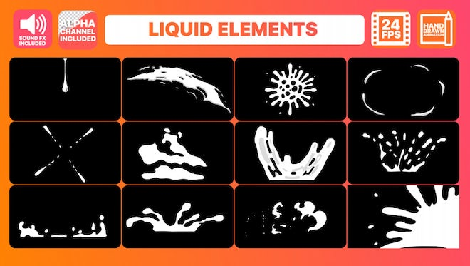 Liquid Motion Elements Pack: After Effects Templates