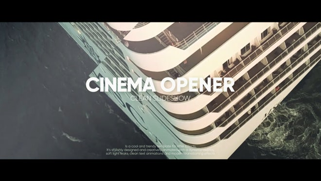 Quick Cinematic Opener: After Effects Templates