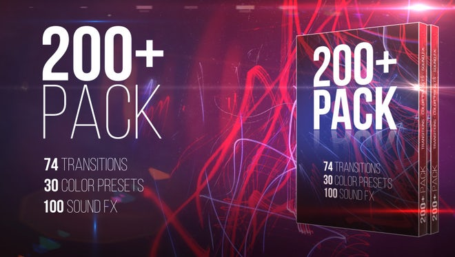 200+ Pack: Transitions; Color Presets; Sound FXs: Premiere Pro Presets
