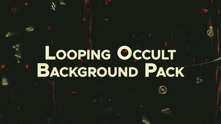 Looping Occult Background Pack: Stock Motion Graphics