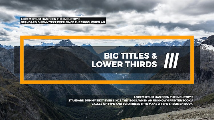 Big Titles & Lower Thirds III: After Effects Templates