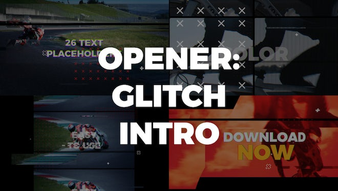 Opener: Glitch Intro: After Effects Templates