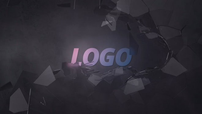 Logo With A Broken Glass Wall: After Effects Templates