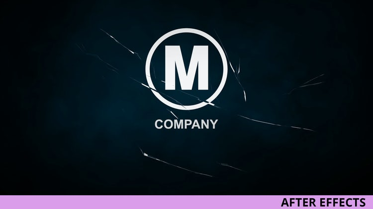 Glass Crack Logo Reveal: After Effects Templates