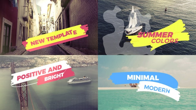 Inspiring Summer Slideshow: After Effects Templates