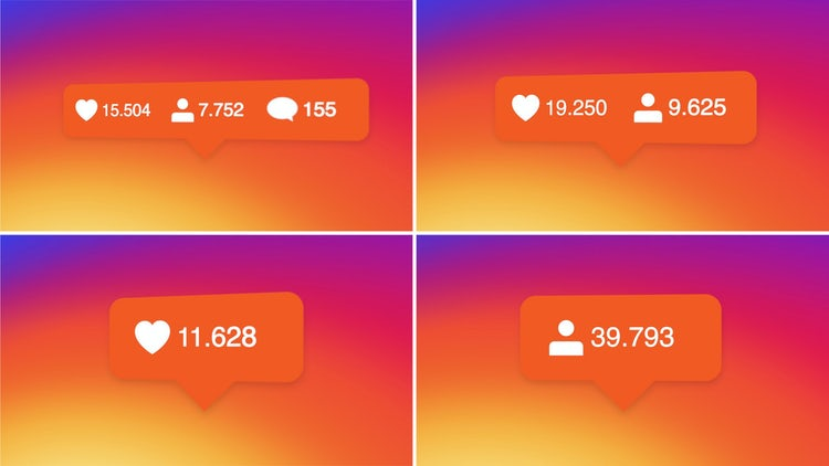 Active Instagram Followers Pack : Stock Motion Graphics