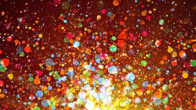 Glittery Colored Particles Rising: Stock Motion Graphics
