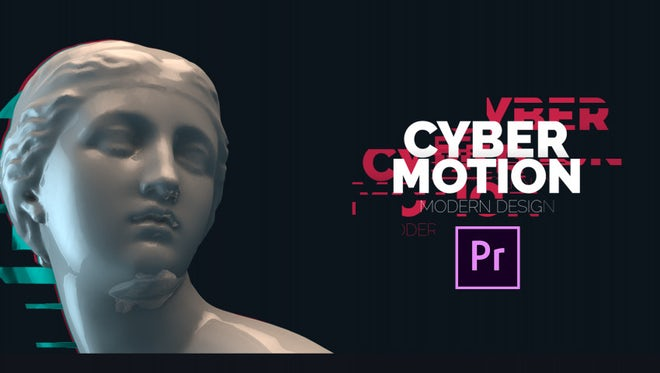 50 Glitch Titles: Motion Graphics Templates