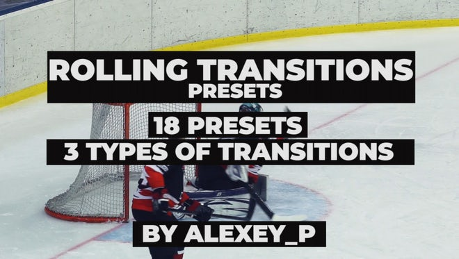 Rolling Transitions Presets: Premiere Pro Presets