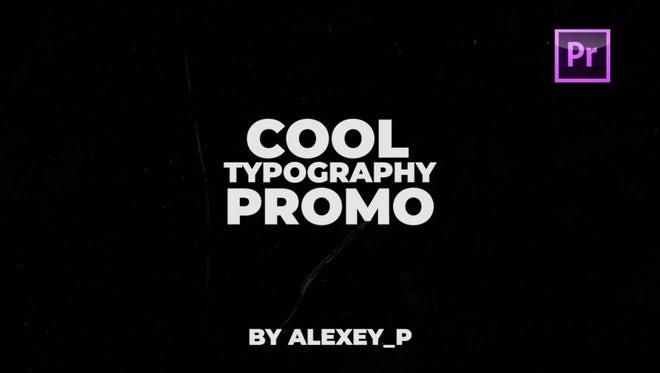 Typography Promo: Premiere Pro Templates