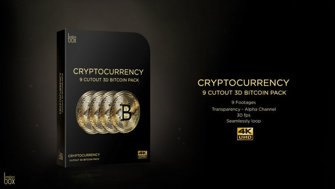 3D Cutout Bitcoin Pack: Stock Motion Graphics