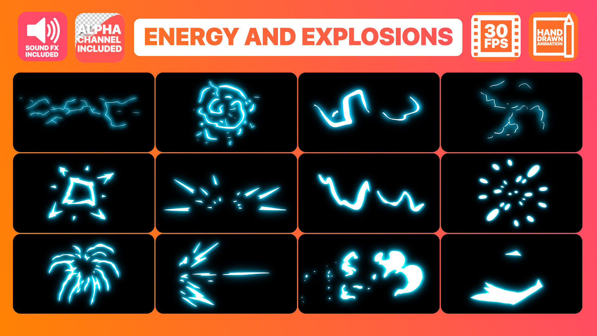 Energy And Explosion Elements Pack 92066