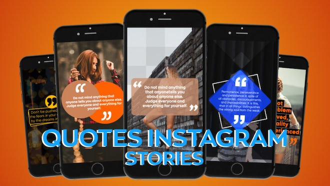 Instagram Quotes Stories : After Effects Templates