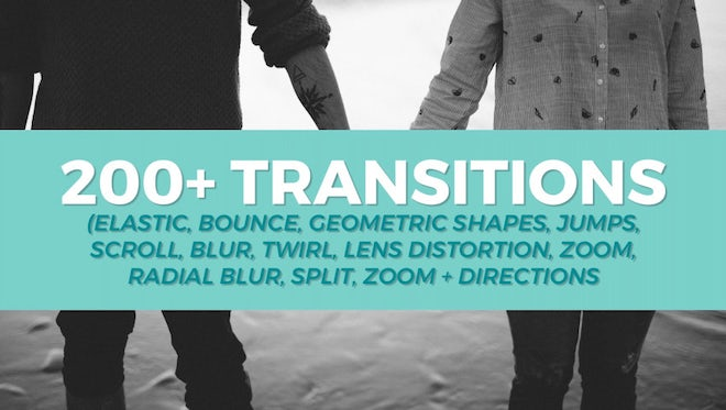 200+ Transitions Pack: Premiere Pro Templates