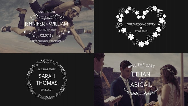 Beautiful Wedding Titles 4k: After Effects Templates