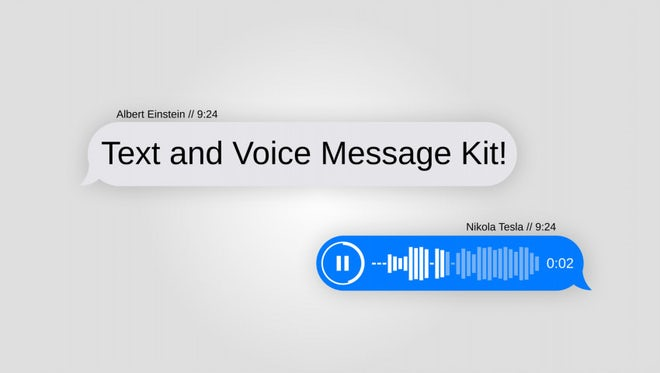 Text Message Kit With Voice: After Effects Templates
