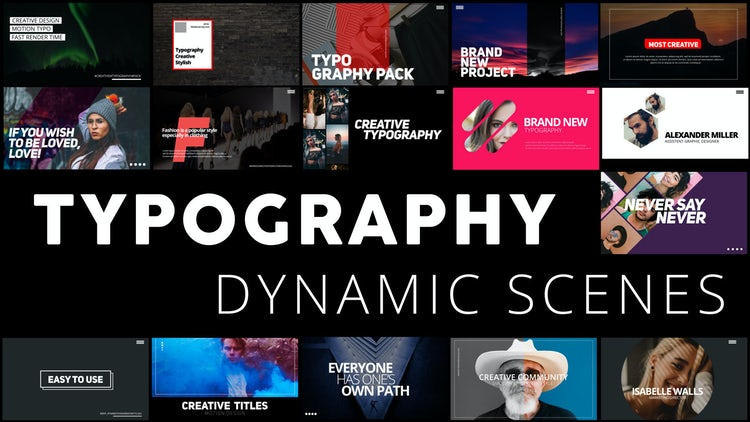 Typography: After Effects Templates