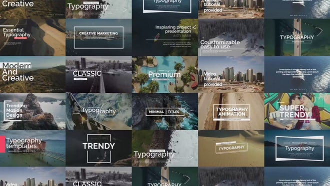 Essential Titles V.1: After Effects Templates