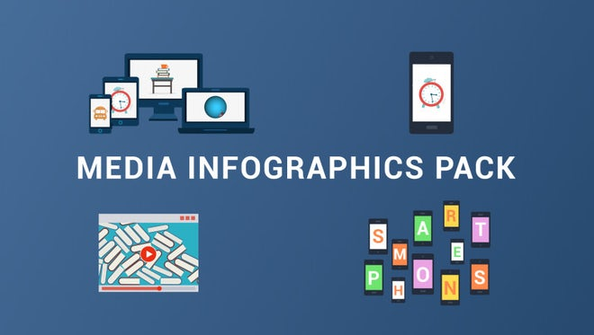 Media Infographics Pack: Stock Motion Graphics