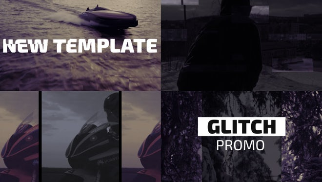 Aggressive Glitch Promo: After Effects Templates