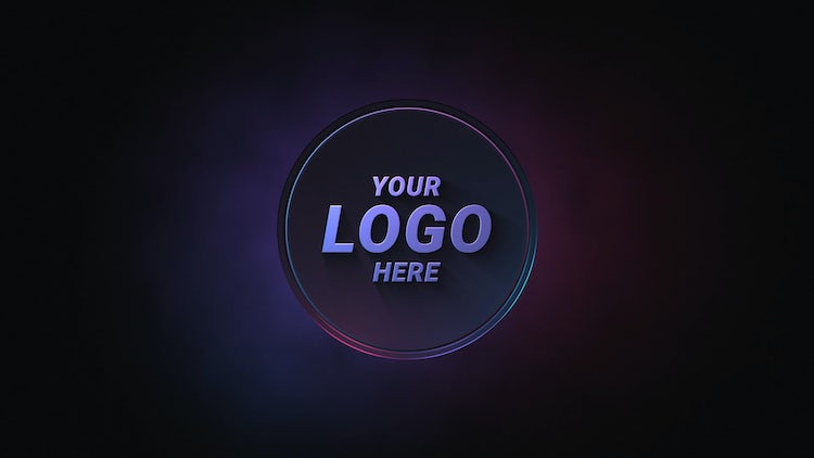 Neon Circle Logo: After Effects Templates