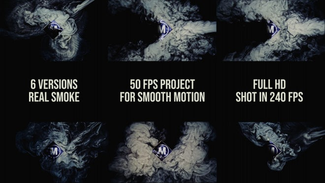 Six Smoke Logos: After Effects Templates