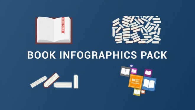 Book Icons Pack: Stock Motion Graphics