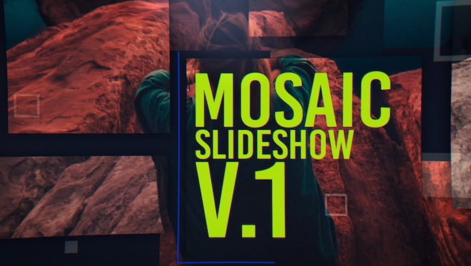 Mosaic Slideshow: After Effects Templates