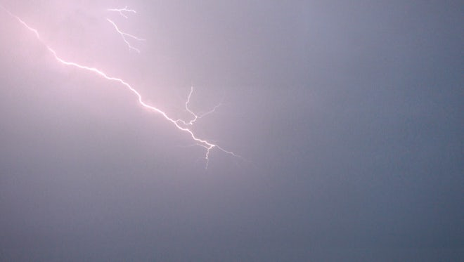 Flashes Of Lightning At Night: Stock Video
