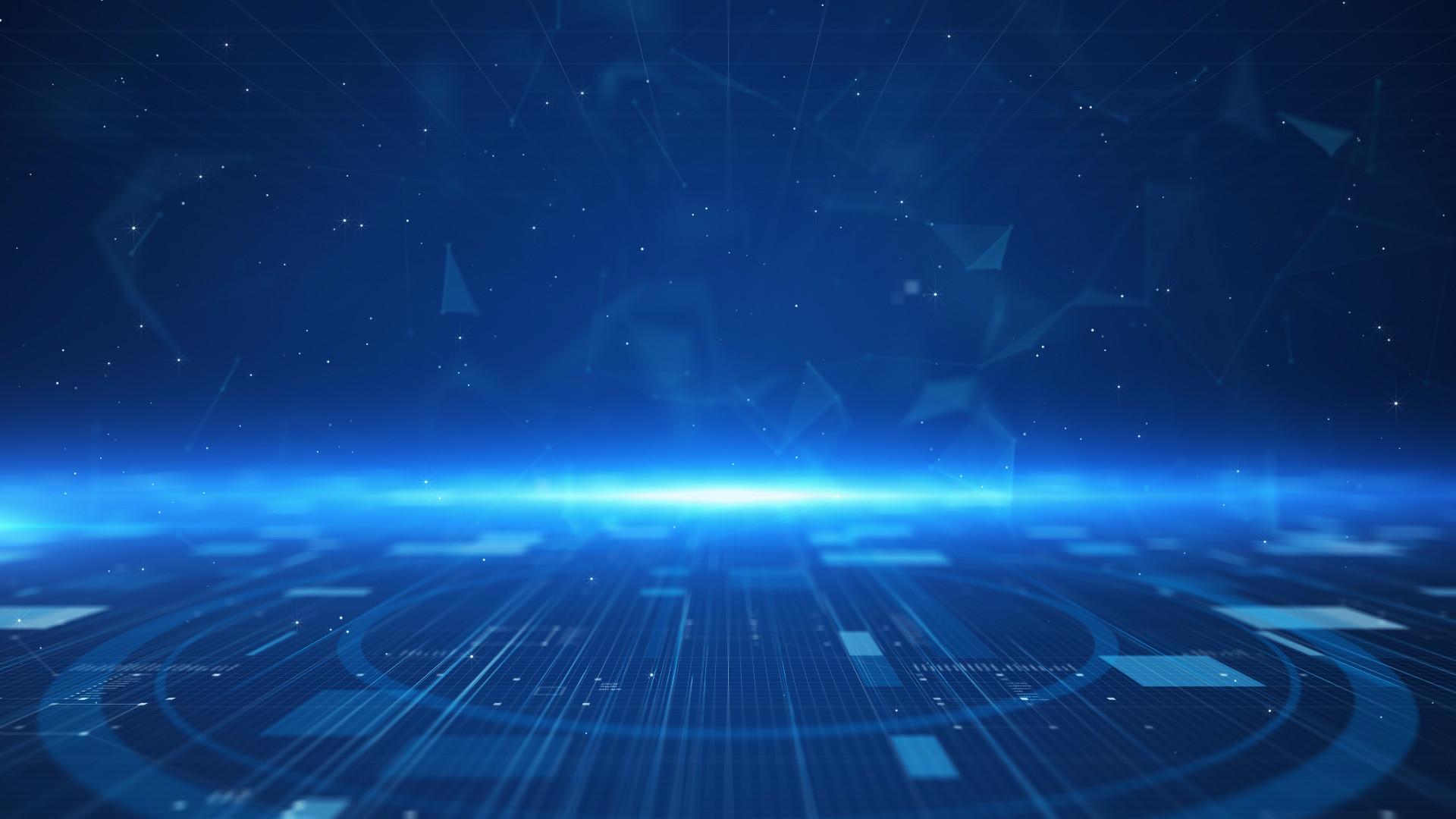 Blue Technology: Blue Digital Technology Terrain