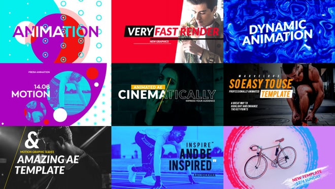 Typography Scenes : After Effects Templates