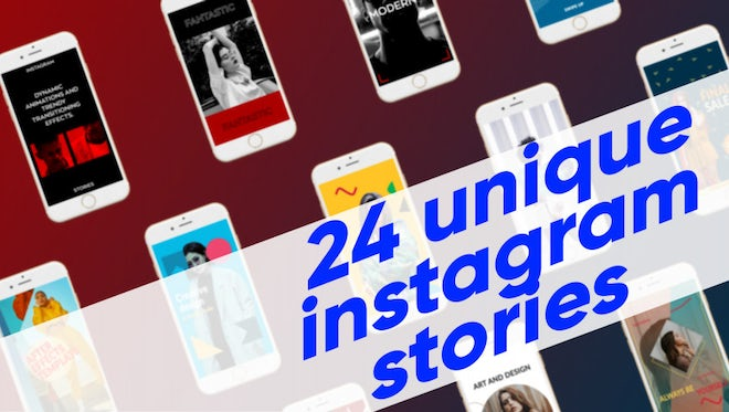24 Unique Instagram Stories: After Effects Templates