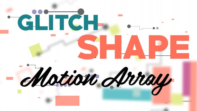 Glitch Shape Logo: After Effects Templates