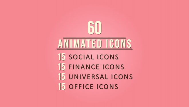 Animated Icons: After Effects Templates